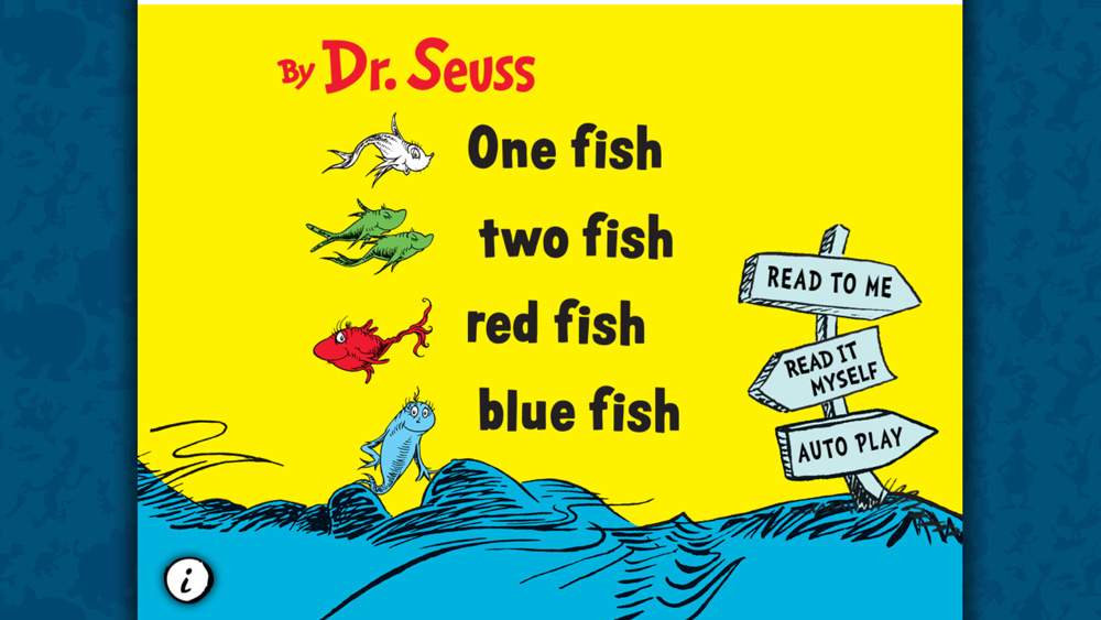 One Fish, Two Fish, Red Fish, Blue Fish-Best books for 3 year olds