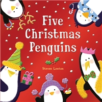 Five Christmas Penguins book cover