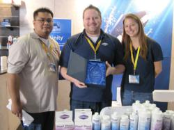 Seachem was presented with the award for Best Supplements at the Reef-A-Palooza aquarium show October 21 at the Orange County Fairgrounds in Costa Mesa, CA.