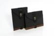 iPad mini & iPad 4 SleeveCase - shown here with brown leather trim option