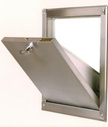 Open Trash Chute Door - Bottom Hinged
