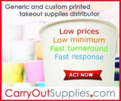 CarryOutSupplies.com launches new web store and increase product selection with products from national brands