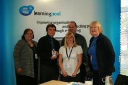 Northumberland County Council receiving their award, Learning Pool