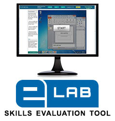 eLab Skills Evaluation Tool - picture of computer screen with test question