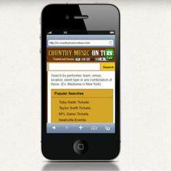 Trusted dedicated country concert ticket site, CountryMusicOnTour.com reaches customers on the go!