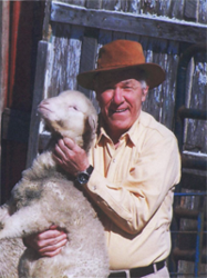 Francis Cestari with one of his prized lambs