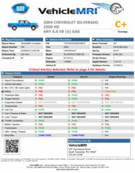 VehicleMRI Vehicle Inspection Report