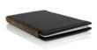 MacBook Air Smart Case - Shown here in Black with brown leather sides