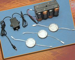 Outwater's Battery Operated LED Wafer Puck Lighting System