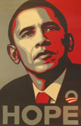 Barack Obama Home 2008 Painting by Shepard Fairey