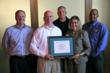 "Balfour Beatty Construction's Carolinas division representatives accept the ""Building Star"" designation."
