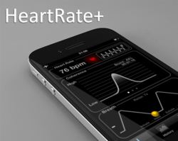 HeartRate+: Monitor Heart Rate, Guided Breathing Sessions, Coherence Coach, iPhone App, main Screen