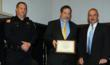 Mike Fuljenz being presented the Beaumont Police Department's Corporate Award