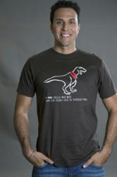 Funny t-shirt featuring t-rex wearing tee shirt from Tees For Your Head