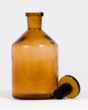 Vintage Amber Apothecary Flask
