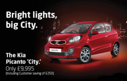 The Kia Picanto City from £9,995