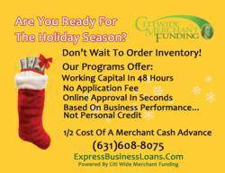 Small Business Holiday Financing Available