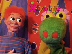 Henry and Hector, the hosts of FlexiTube