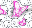 3D Butterfly stickers from Wallquest, Inc, Jelly Beans wallpaper collection.