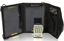 goal zero guide 10 adventure kit, solar panel, battery pack