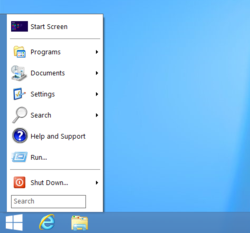 Screenshot of Ninite's start menu replacement