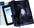 The Suntactics sCharger12 and iPad with convenient case