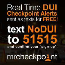 Free DUI Checkpoint text alerts