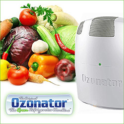 green refrigerator machine by ozonator