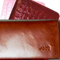 Fine Leather Checkbook Cover - Gemelli International by LeatherGiftItems.com