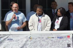 Champion Home Builders donated a home to U.S. Army Veteran, Sgt. John Jones II and his family as part of the House United program with Craftsman, NextGen Home, Bank of America, Rebuilding Together and Sears Heroes at Home.
