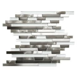 Stainless Steel Glass Tile Random Mix
