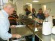 Volunteers and some of Eva's staff helped serve the noon meal
