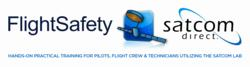 Satcom Direct and FlightSafety joint logo