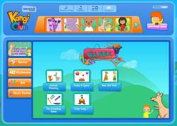 Games site for children, English learning, Kangi Club, Educational franchise