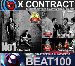 Danish progressive rock band, X Contract, have topped the BEAT100 Music Video Chart