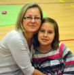 Marzena and Victoria Legas of Lemont stay close by spending quality time together.