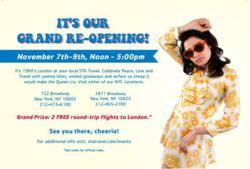 STA Travel Grand Re-Opening Invite