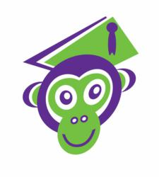 SmartTutor's new mascot, Thinky Monkey