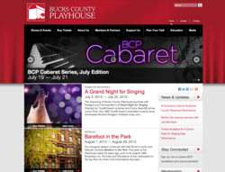 Award Winning Design for the Bucks County Playhouse Website