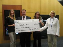 PCU presents check for $1,500 to Salvation Army Coats for Kids