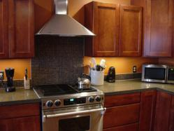 cabinet refacing and engineered granite counter for the ultimate baker's kitchen