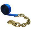 "image of 2"" x 50' blue winch strap with chain extension from US Cargo Control"