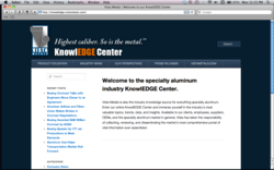 KnowlEDGE Center, Vista Metals Corp, Specialty Aluminum Products