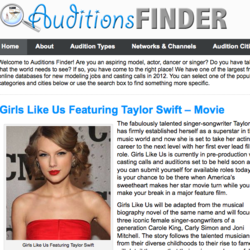 AuditionsFinder.com Home Page