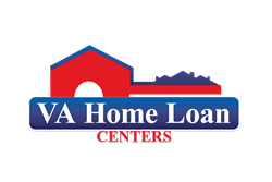 "VA Home Loan Cebters logo features ""key house"" design inspired by Americas Heartland."