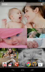 Optimized for the Google Nexus 7, Photo Wall FX allows you to pick your collection of favorite photos, and have them running like a photo collage, complete with animations, transitions and effects.