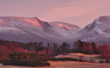 The Lairig Ghru, taken from the Aviemore side with a fresh dusting of snow on the high tops. Cairngorms National Park