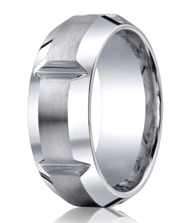 Mens Chrome Cobalt Ring