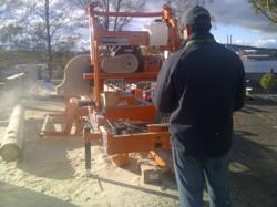 Norwood portable sawmill in action