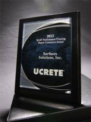 BASF Ucrete Master Contractor award for 2012.